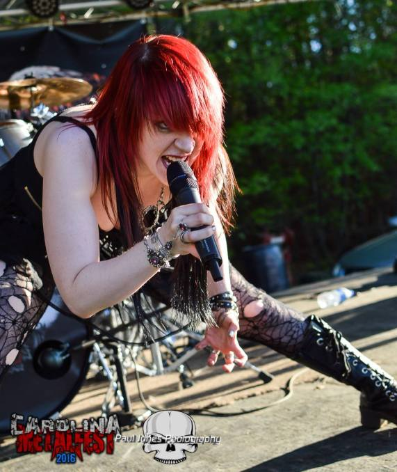 Raimee at Carolina Metalfest, Paul Jones Photography